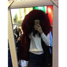Thick heat wine purple fur lining waistcoat racoon fur large collar Sleeveless Vest coats Mrs furs jacket