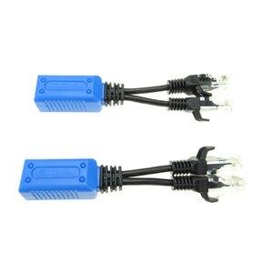 Image 2 - 2 шт./1 пара RJ45 Сплиттер Сумматор uPOE кабель, две камеры POE использовать один сетевой кабель адаптер POE разъемы Пассивный кабель питания