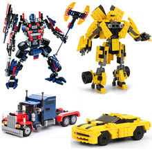 New 8711 Gudi Transformations Robot Building Blocks Model Sets Children Gifts Compatible with Transform robotics bricks цена