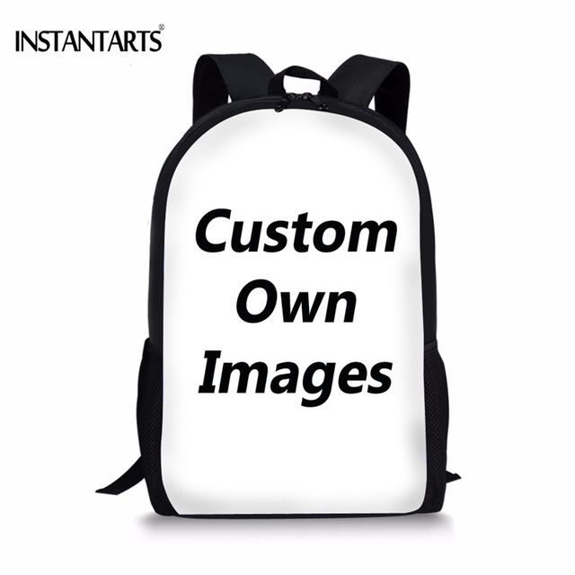 Instantarts Customized School Bags For Primary Students Boys S Kids Book Shoulder Bag Funny Printed