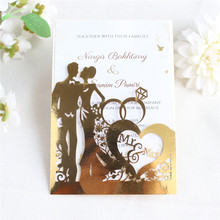 Mr & Mrs cards invitations wedding marriage save the day gift offer personalized printing 50pcs/lot