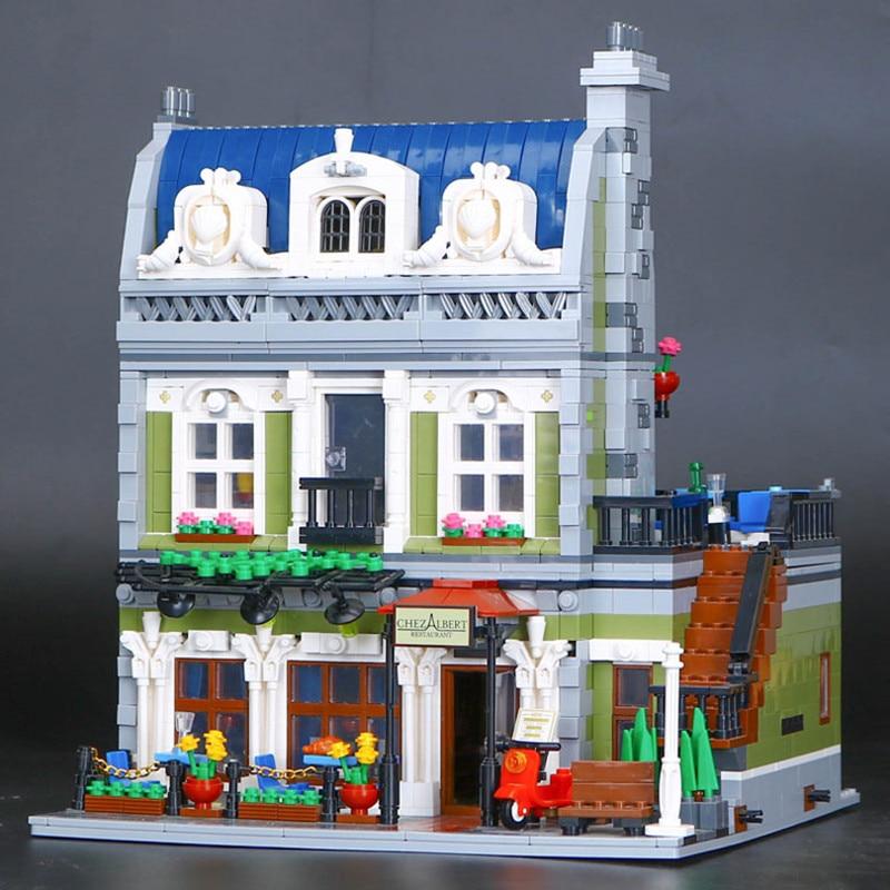 2418pcs Creator lepine 15010 City Street Detective's Office Model Building Kit Blocks Bricks Compatible Legoe 10243 Gifts lepine model