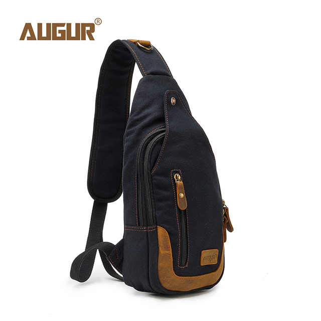 AUGUR 2018 Brand Shoulder Crossbody Chest Bag Men Sling Bags For Women Men  Fashion Casual Canvas Vintage Bag For Phone Pouch 9a775c8150da1