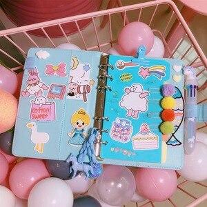 Image 5 - 2020 a6 bonito menina kawaii espiral 6 furos notebook viajantes planejador bolso livro solto folhas binder jornada diário bujo de presente
