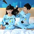 Children Girls Pajamas Sets Cartoon Printed 2Piece Long Sleeve Sleepwear Sets Kids Girls Cotton Pyjamas 2017 Fall Girls Pajamas