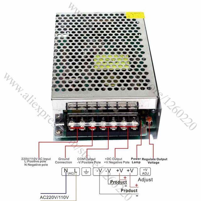 DC24V 6 25A 150W Power Supply Voltage Transformer AC 100V-240V to DC 24V  LED Driver for Led Strip Control Switch Display