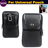Luxury Genuine Leather Carry Belt Clip Pouch Waist Purse Case Cover For Xiaomi Redmi Note 4