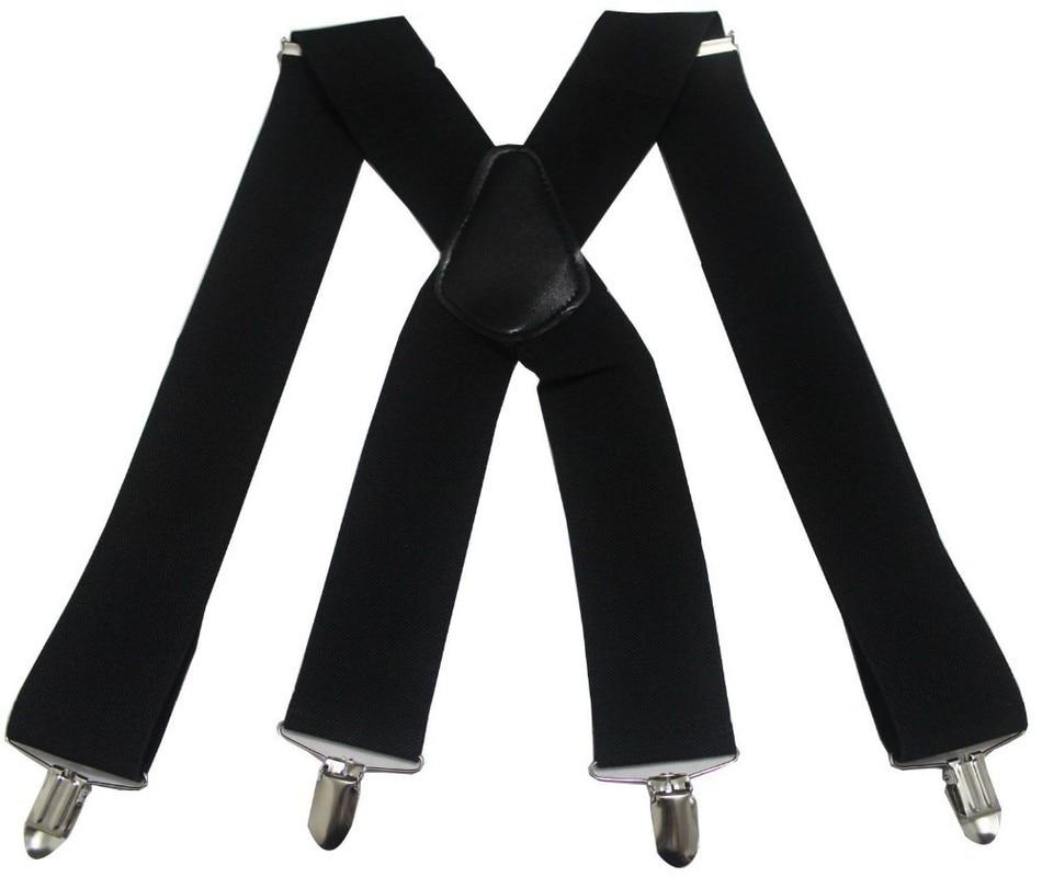 Braces Men Suspenders For Women Jeans Pants Trouser With Clip-on Braces Elastic Suspenders