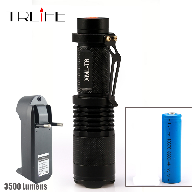 2000 Lumens Lanternas Led Torch CREE XM-L Q5 Led Flashlight 14500 Torch Rechargeable With Charger Linternas Powerful Lights