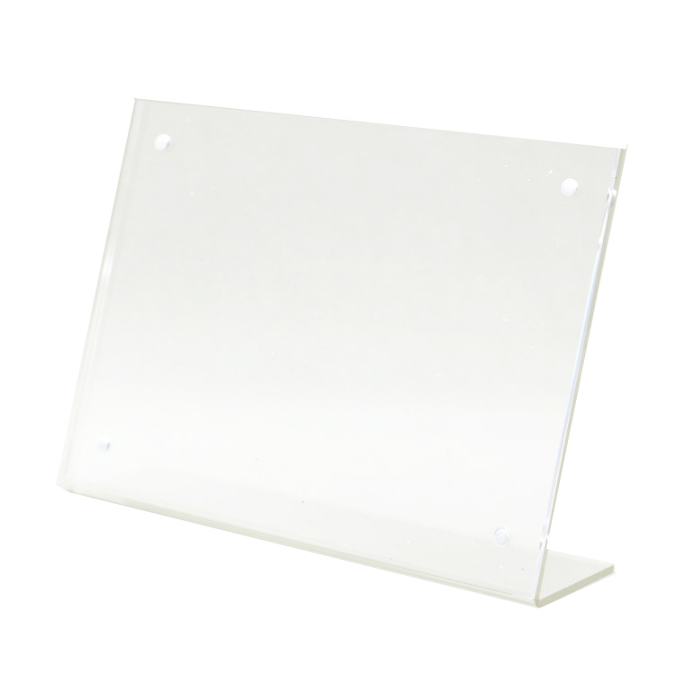 54e99dfc39d8c US $97.59 |Magnetic acrylic photo frame advertising tag A6 sign holder card  display stand Acrylic table menu label holder 20 pack-in Frame from Home &  ...