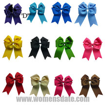 "WomensDate 12 Pçs/lote 4 ""Wholesale Lots Tails Baixo Sólidos Grosgrain Elogio Bow/Cheerleading Headwear Frete Grátis"
