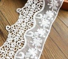 1yards 14cm cotton lace fabric DIY fabric lace flower gift ribbon decoration material color cotton lace кружево для шитья diy lace garden 7 14cm lt048 diy embroiered