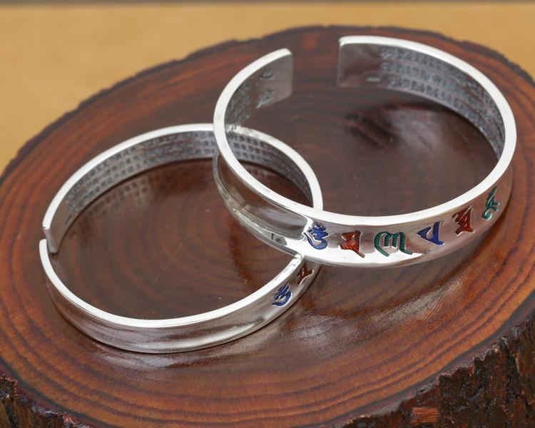 B0089-Tibetan-Pure-Silver-OM-Mantra-Bracelet-5