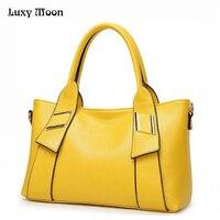 2016 Women Leather Handbags Famous Brand Women Shoulder Bags Big Women Messenger Bag Bolsos Mujer Black