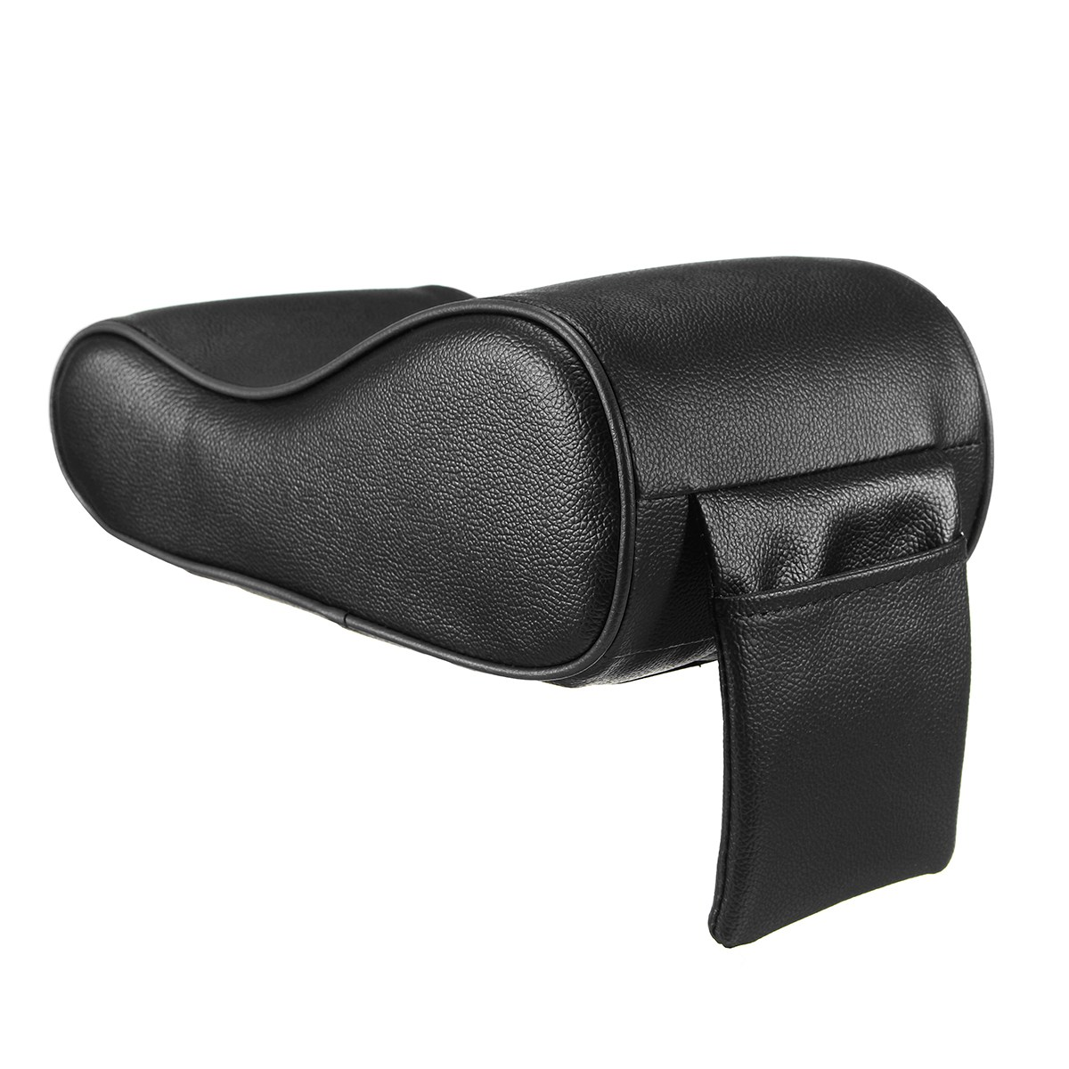 1x Leather Car Armrest Cushion Pillow Console Box Riser Pad Cover Phone Storage