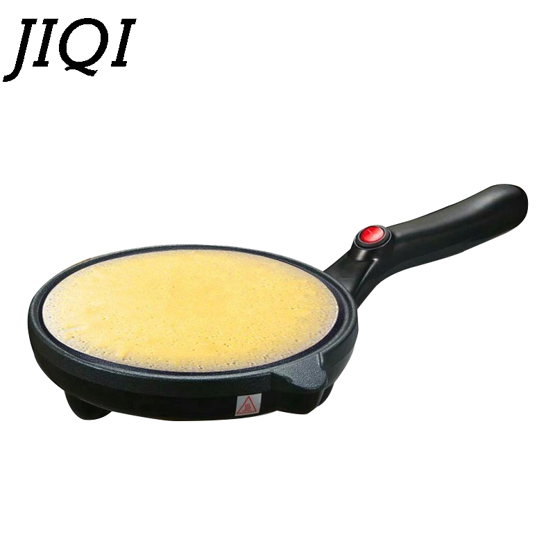 JIQI Electric Crepe Maker Baking Pan Chinese Spring Roll Frying Machine Pancake Pizza Griddle Non-stick Pie Cooker Plate EU plug