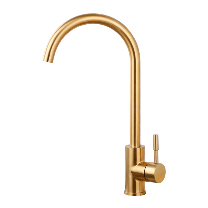 Us 47 3 14 Off Brushed Gold Kitchen Faucet 360 Rotatable Water Mixer Basin Sink Stainless Steeltaps Single Handle Deck Mounted Aerator Tap Bg01 In