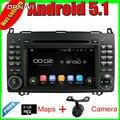 7 ''Quad Core Android 5.1 GPS Del Coche Para A-W169 (2005-2011)/B-W245 (2005-2011)/Viano (2009-2011)/Vito (2009-2011) para el Benz Con El Mapa
