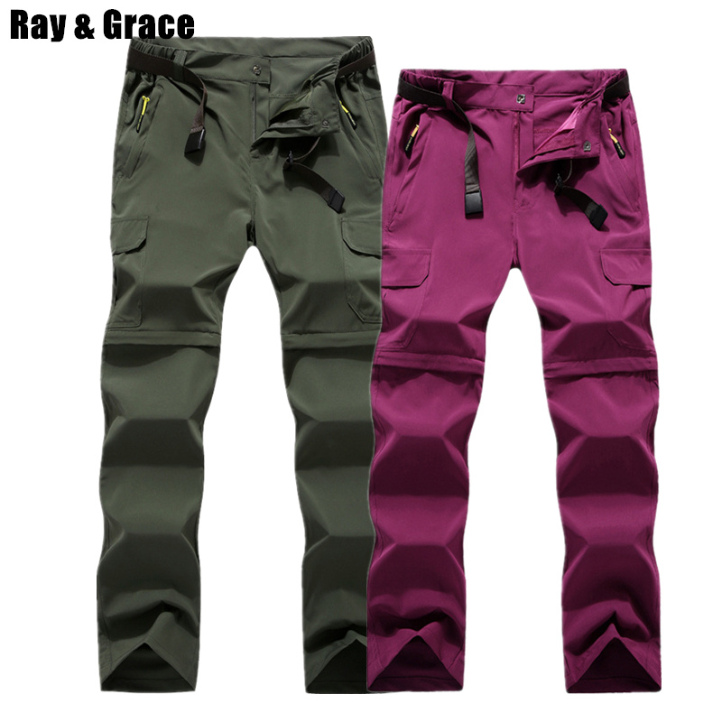 RAY GRACE Detachable Pants Shorts Women Men Summer Outdoor Hiking Pants Waterproof Quick Dry Cargo Pants Climbing TrekkingRAY GRACE Detachable Pants Shorts Women Men Summer Outdoor Hiking Pants Waterproof Quick Dry Cargo Pants Climbing Trekking