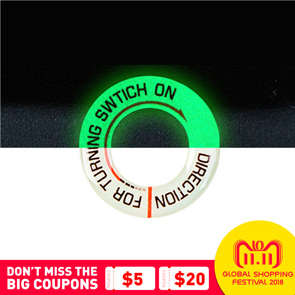 Motorcycle Glow Key Ring Hole Sticker Motorbike Car Lumunous Ignition Switch Sticker Decal Circle Light Decoration Universal