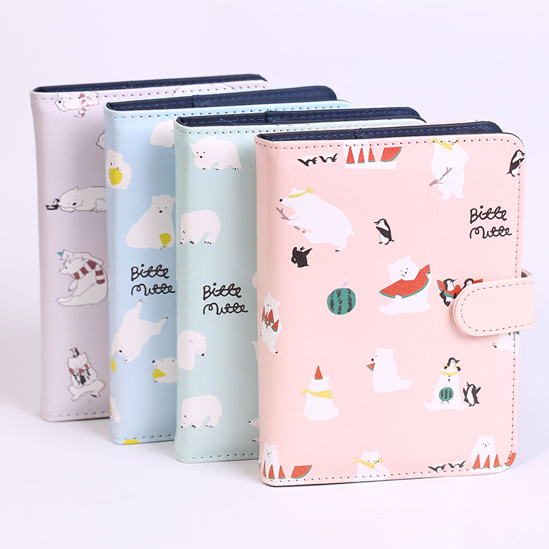 Kawaii Diary Journal Notebook Cartoon Faux Leather Agenda Korea Stationery A6 Notepad Cute School Supplies Student Gift Notebook dolphin kid notebook cartoon password diary lockable korea stationery notebook kawaii notepad school supplies lovely xmas gift