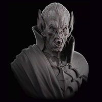 1pc 1/10 Scale Model Resin People Figure Resin Character Model Sci Fi Movie Theme Old Vampire Unpainted And Unassembled