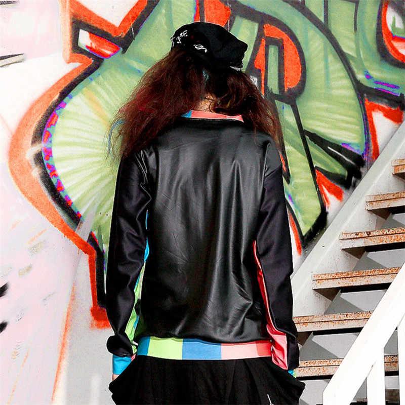 Just. be. never хип-хоп Женская Толстовка Пуловер черный с длинным рукавом синий оранжевый полосатый уличная Толстовка фитнес Kawaii женский топ