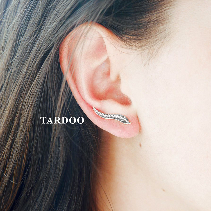 Tardoo New Hot 925 Sterling Silver Plant Leaf Hook Earrings for Women Delicate Individuality Hook Earrings Fine Jewelry цена