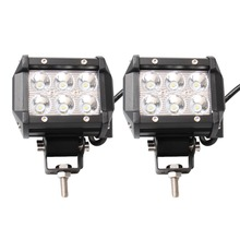 2x 4INCH 18W Spot  LED WORK LIGHT BAR SPOT OFFROAD 4WD SUV ATV CAR LAMP 12V