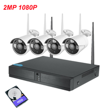 XMeye plug and play P2P 4ch WiFi NVR Kit 720P / 1080P Outdoor IP nvr wifi kit CCTV Camera IR night wireless Surveillance System