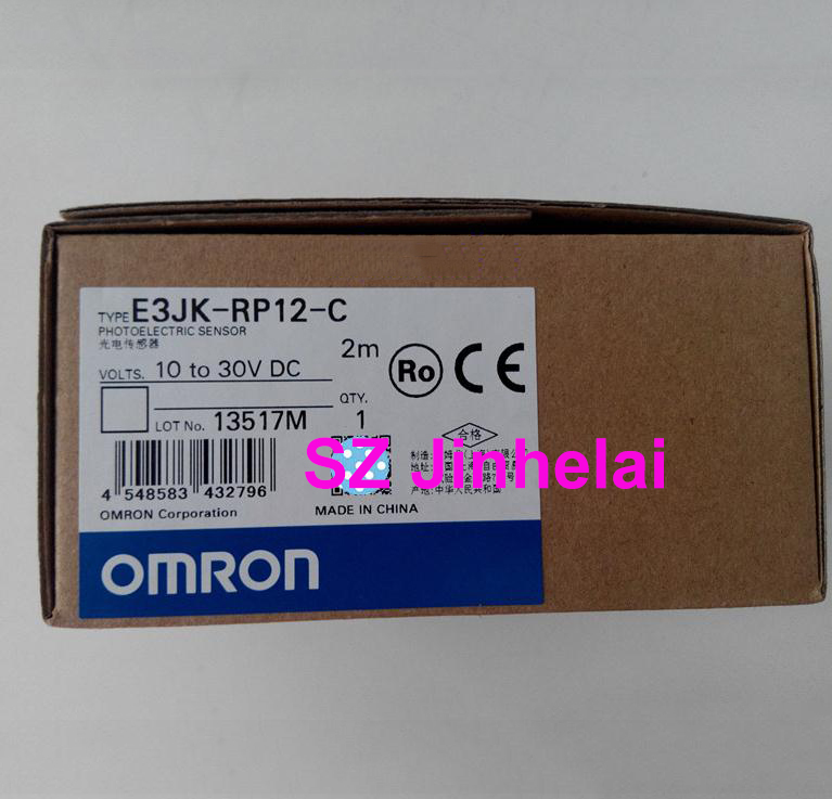 Authentic original OMRON PHOTOELECTRIC SWITCH SENSOR E3JK-RP12-C 2M 10-30VDC e3jk r4m1 omron photoelectric sensor