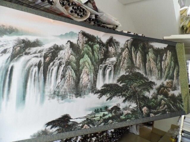 3,5 meter Große RIESIGE TOP ausländischen business geschenk Hause SHOP WAND Dekorative FENG SHUI kunst chinesische Landschaft malerei arbeit - 3