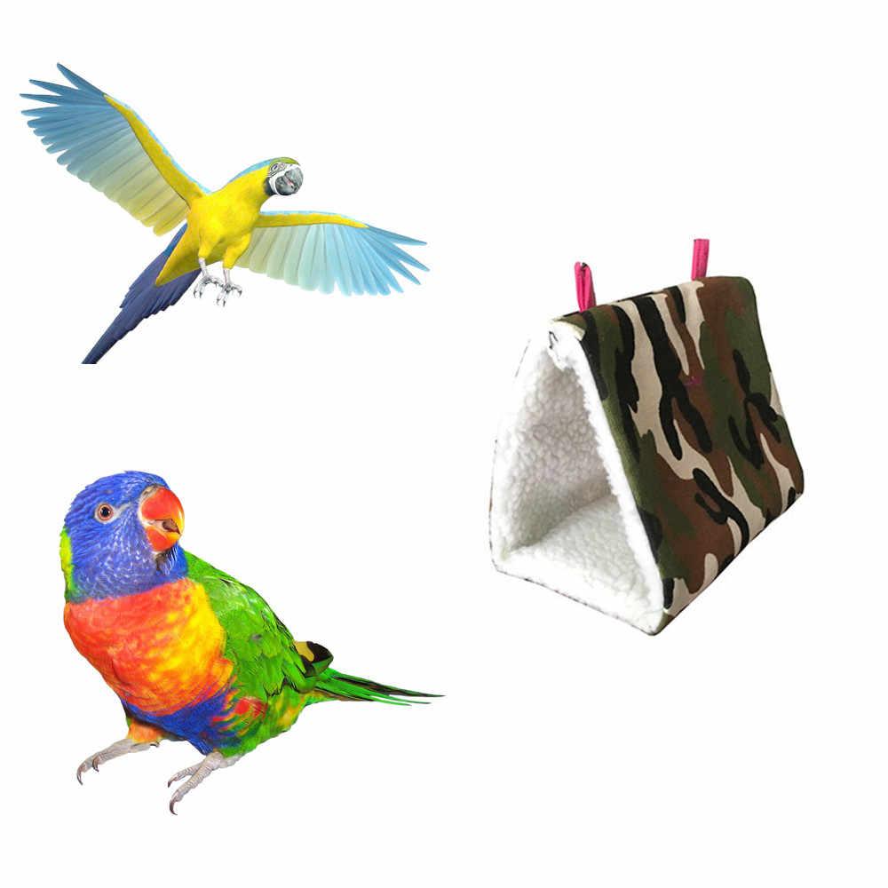 Transer Pet гамак для птицы Попугай плюшевый гамак клетка Snuggle счастливый домик, кровать-палатка двухъярусная игрушка подвесная пещера Горячая Oct31