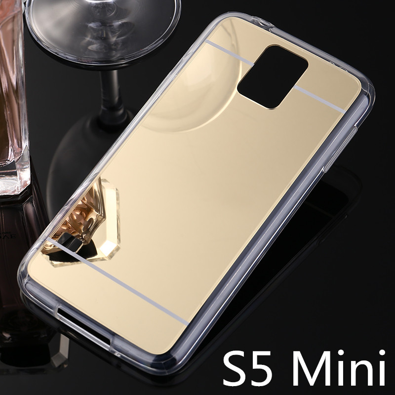 S5 Mini G800 Cover Mirror PC Soft TPU Luxury Fashion Coque Case For Samsung Galaxy S5 Mini Phone Back bags Cases S5 Mini <font><b>G870</b></font> image