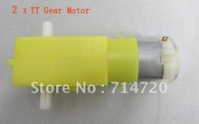 2x Dual axle reduction gear motor TT robot motor for robot chassis rc car(2piece/park)
