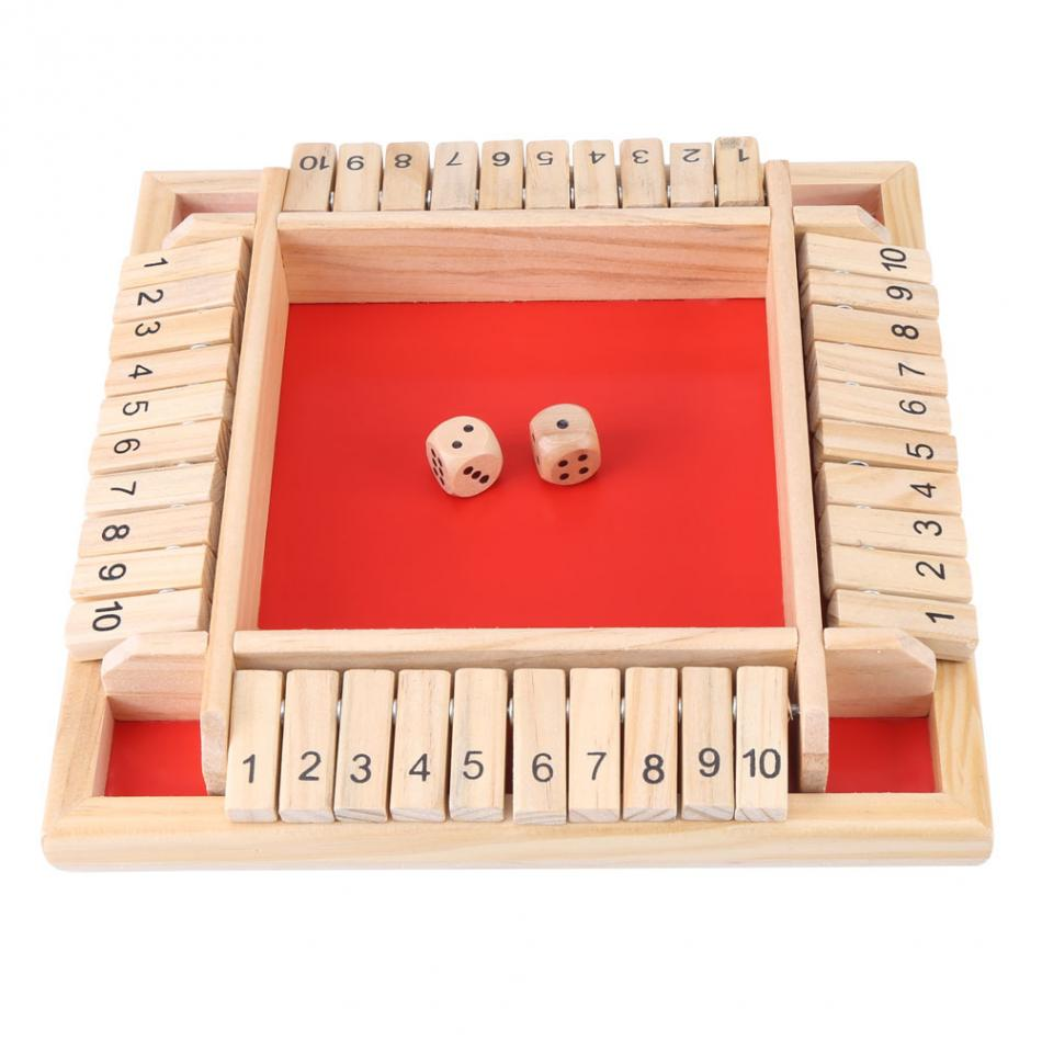 Wooden Educational Number Math Calculate Board Toys kids Early Learning Family Traditional Game Drinking Dice Toys For Children funny monkey climbing board game kids falling tumbling family toy safe plastic sharing educational toys for kids