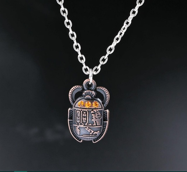 Egyptian scarab beetle with rhinestones charms alloy pendants egyptian scarab beetle with rhinestones charms alloy pendants necklaces vintage antique silver jewelry gift new 1pcs aloadofball Choice Image