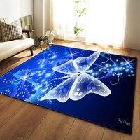 Modern Large Mat 3D Dream Unicorn Butterfly Jellyfish Carpet Home Decor Living Room Rugs Soft Flannel Bedroom Area Rug Carpet