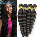 7A Ali moda Brazilian Loose Wave Hair 3Pcs Lot Spring Queen Hair Unprocessed Brazilian Loose Curly Hair Weave Bundles More Wavy