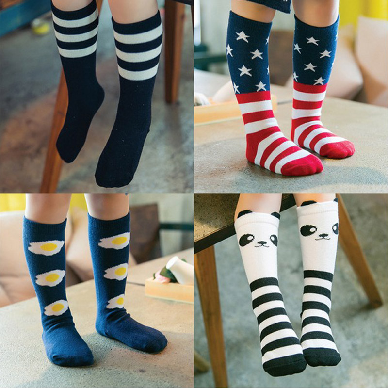 1042671fd8d Cartoon Cute Girls Socks Print Animal Cotton Kids Socks Knee High Long Girl  Clothing Accessories Totoro Fox Socks Chaussette