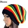 [Dexing] 2017 nueva reggae unisex gorro desgarbado gorro de los hombres sombreros de las mujeres cap rasta sombreros de invierno para las mujeres de los hombres beanie