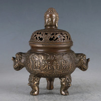 Chinese Brass Buddha Incense Burner Made During The Daming Xuande