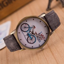 Relogio Masculino Top Brand Bicycle Pattern Sport Men Watches Casual Leather Women Watch Quartz Wristwatches Clock