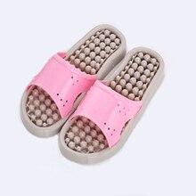 Новинка; сандалии и шлепанцы с массажной подошвой с большими помпонами; женская домашняя обувь для ванной; Нескользящие тапочки для пар