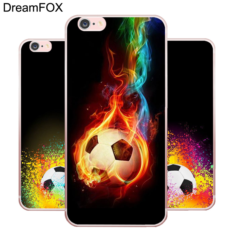 L165 Fire Football Soccer Ball Soft TPU Silicone Case Cover For Apple iPhone X 8 7 6 6S Plus 5 5S SE 5C 4 4S
