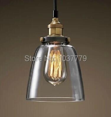 5pcs/lot glass shade Edison vintage pendant lamp E27 fitting industrial  pendants