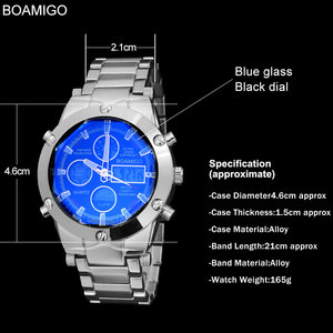 Image 5 - BOAMIGO Top Luxury Brand Men Military Sports Watches Mans Alloy Led Digital Watches Male Waterproof Wristwatches Reloj Hombre