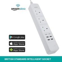 Wifi Intelligence Row Insert App Long-range Remote Control English. Socket Can Voice Bring Usb Interface