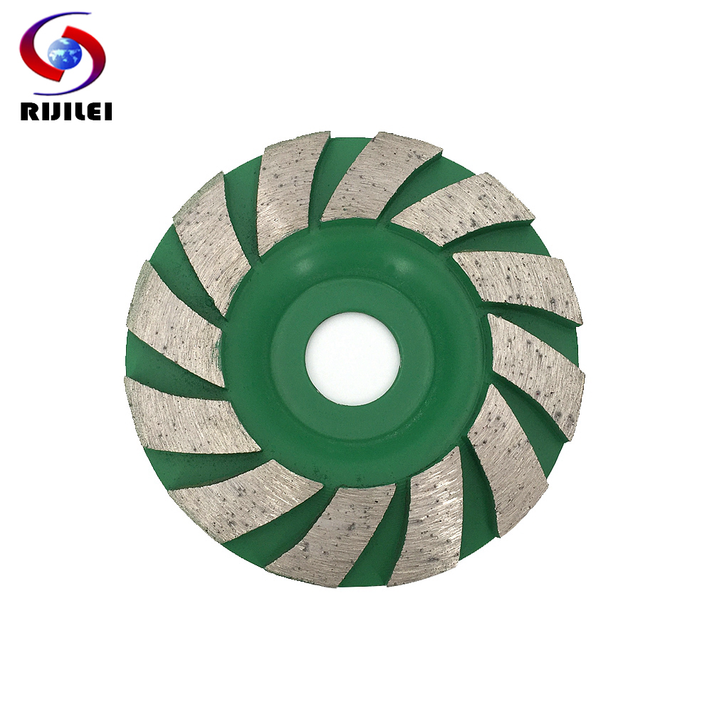 RIJILEI 90mm Diamond grinding wheel disc Bowl Shape Grinding cup for concrete floor marble Polishing pads grinding tools HC08 in Abrasive Tools from Tools