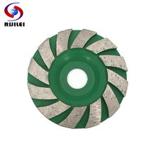 RIJILEI 90mm Diamond grinding wheel disc Bowl Shape Grinding cup for concrete floor marble Polishing pads grinding tools HC08 100mm diamond grinding wheel disc bowl shape grinding cup concrete granite stone ceramics tools